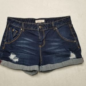 🔥$8 2.1 denim Dark Wash Shorts Womens Size 28